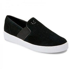 Vionic Kani Perforated Suede Slip On Sneaker Black